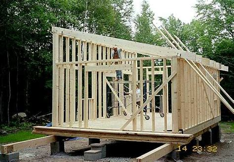 Flat Shed Roof Construction by Plans For Building A Concrete Block Shed