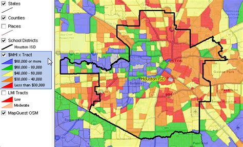 houston map by income houston map by income