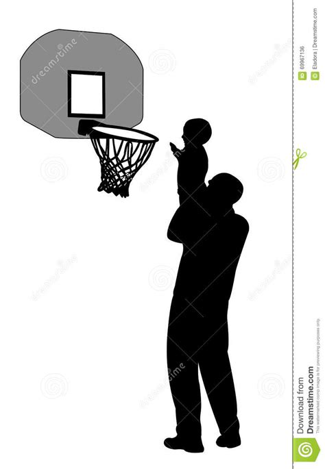 Playing basketball stock vector. Illustration of vector