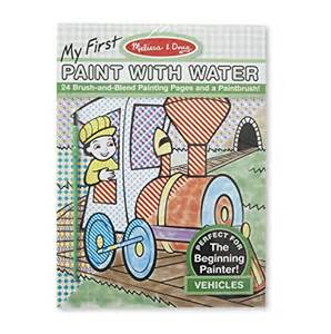 melissa amp doug my first paint with water coloring book