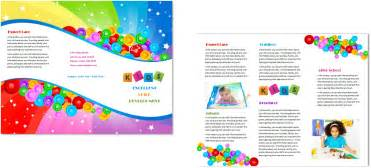 Child Care Brochure Templates by Child Care Brochure Template 7 Child Care Owner