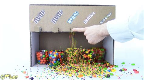 How To Make A Paper Gumball Machine - how to make a machine made with cardboard 5 candies