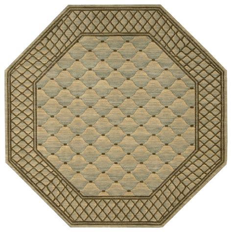 octagon rug 8 vallencierre va26 8 octagon light green rug traditional rugs by plushrugs