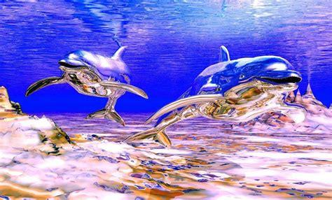 imagenes para fondo de pantalla delfines fondo pantalla delfines 3d metal