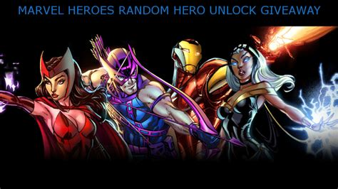 ten ton hammer marvel heroes random hero unlock giveaway - Marvel Heroes Giveaway