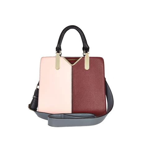 light pink tote bag river island light pink colour block tote bag in pink lyst