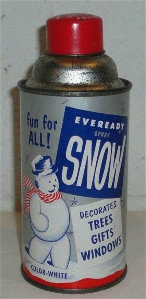 spray on christmas tree snow nostalgia pinterest