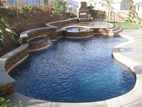 awesome pools backyard awesome backyard pool landscaping design with natural wall