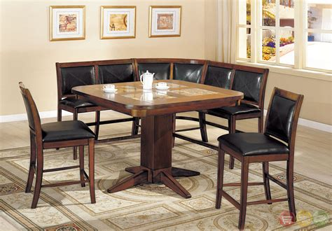 counter bench seating living stone ii counter height bench seating corner dining set