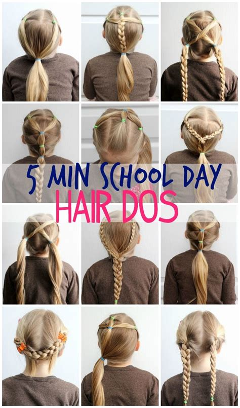 easy hairstyles for school picture day 5 minute school day hair styles hair dos school and easy