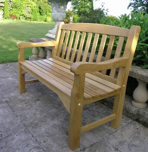 oak garden benches solid oak garden bench 2 seater 4ft simply wood