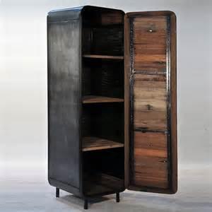 armoire industrielle en m 233 tal et bois de bateau style