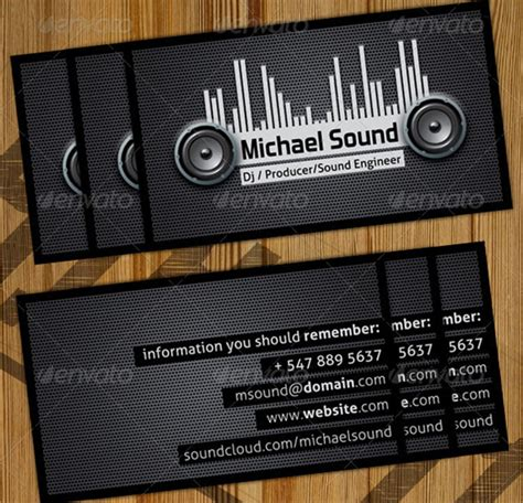 dj business card template psd free dj business card templates free