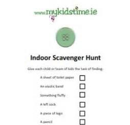 Backyard Treasure Hunt Clues Indoor Scavenger Hunt List