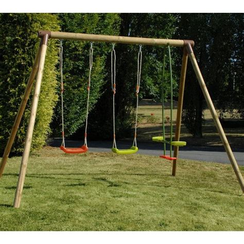 wooden swing frames soulet pinede wooden swing frame 215374