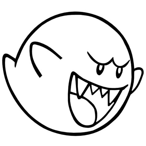 boo mario drawing mario boo drawing clipart best