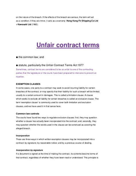 notes torts and contract