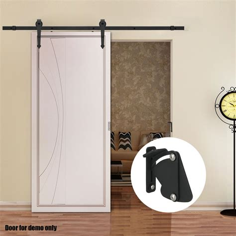 Barn Door Locks 2m 4m Sliding Barn Door Hardware Track Set Home Office Interior Closet Lockable Ebay
