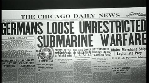 unrestricted u boat warfare ww1 germans resort to submarine warfare in european theater