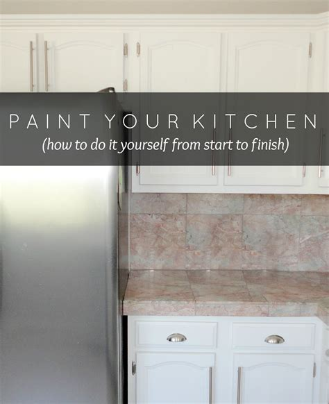 Livelovediy How To Paint Kitchen Cabinets In 10 Easy Steps How To Repaint Kitchen Cabinets White