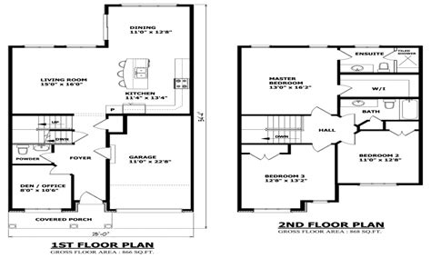 Small 2 Story Floor Plans | simple small house floor plans two story house floor plans
