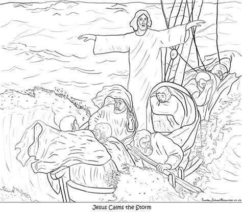 coloring pictures about jesus calming the storm coloring pages