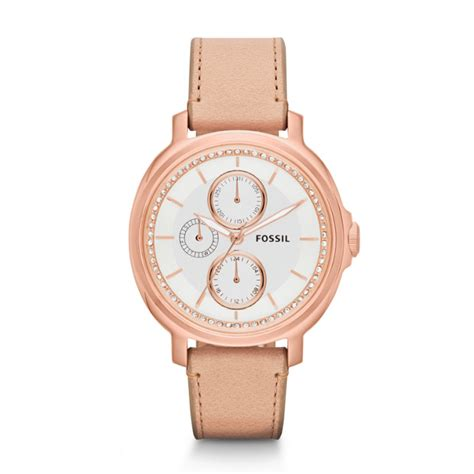 Fossil Chelsey Gold Es3923 chelsey multifunction sand leather fossil
