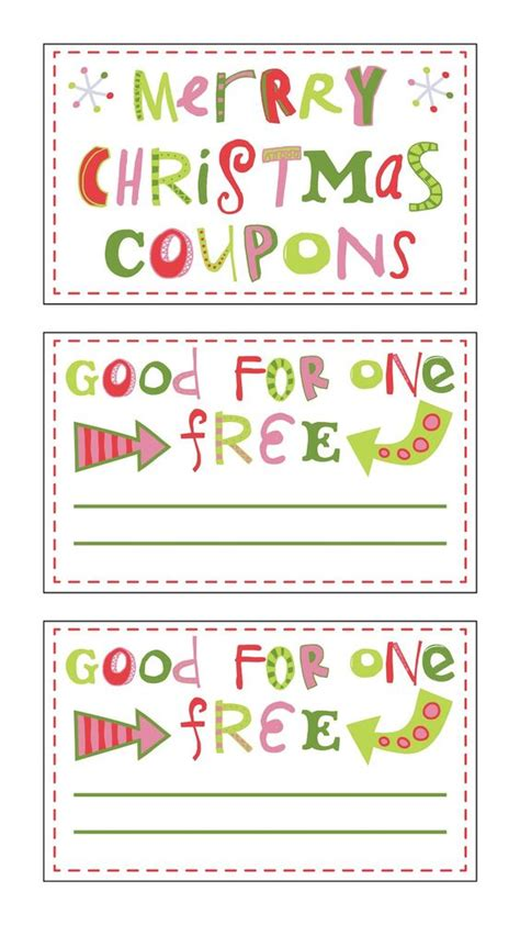 avery coupon template stuffers and gifts on
