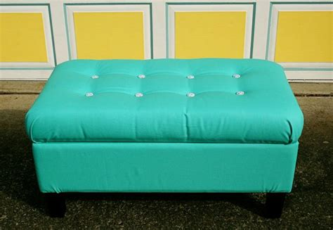 A Good Tutorial On How To Reupholster A Tufted Bench I How To Reupholster A Storage Ottoman