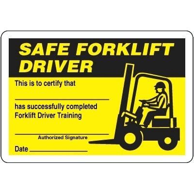 Scissor Lift Certification Card Template by Forklift Operator Certification Card Template Frank