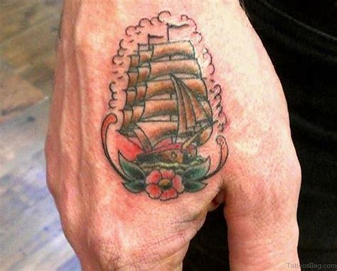 ship and rose tattoo 61 looking flowers on