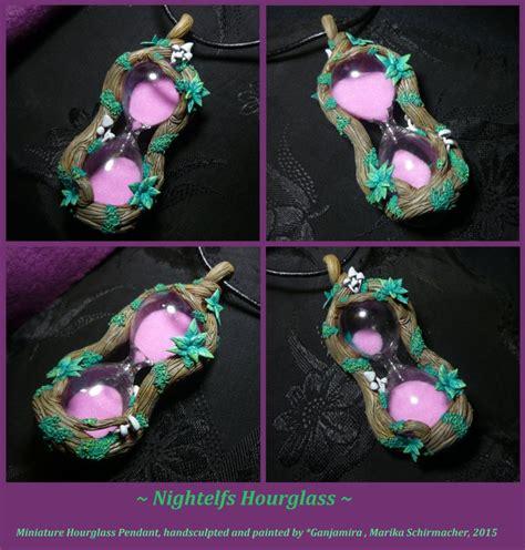 Handmade Hourglass - nightelfs hourglass handmade hourglass pendant by