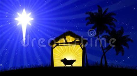 nativity  animated background stock footage video  lighting jesus