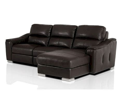 modern leather recliner sectional sofa 44l5987