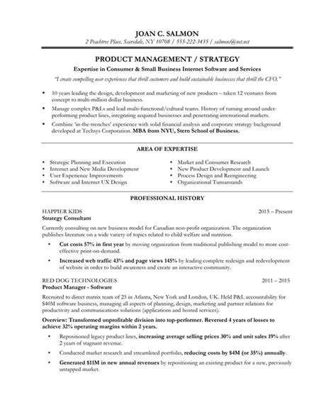 product manager free resume sles blue sky resumes