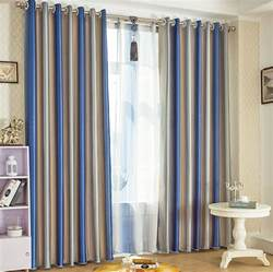 Blue Blackout Curtains Blue Striped Blackout Lines And Thermal Curtains Uk