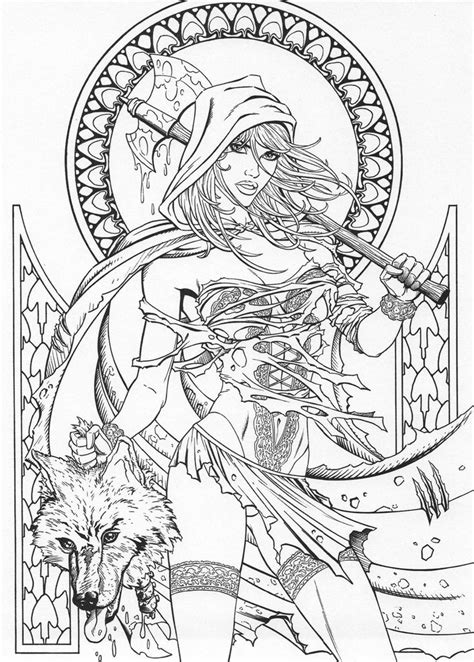 grimm fairy tales coloring page   fairy coloring