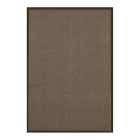 lanart sisal chocolate 6 ft x 8 ft area rug sisal6x8ch