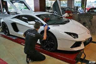 detailing a new car supercar collection at top car detail in marbella gtspirit
