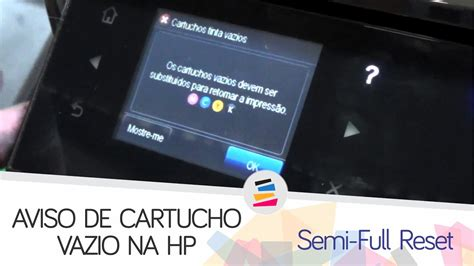 reset cartucho hp deskjet 2050 tutorial erro de cartucho vazio veja como resolver hp