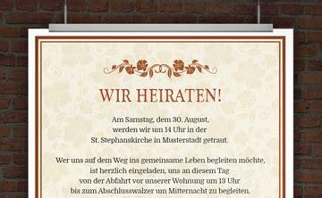 Vordruck Hochzeitseinladung by Drucke Selbst Hochzeitseinladungen Gestalten
