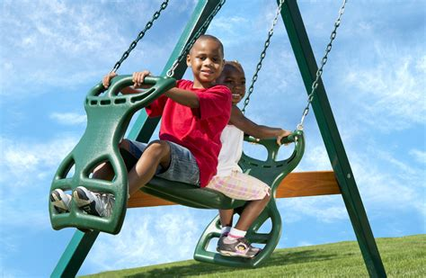 swings for children 2 person swing set glider for kids kid s creations