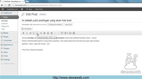 tutorial wordpress cara dewaweb tutorial wordpress bagaimana cara mengedit