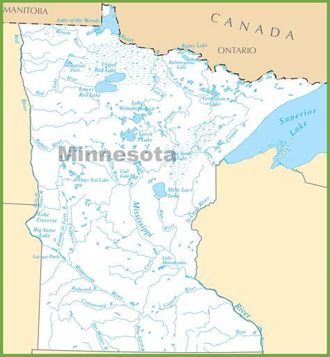 maps of minnesota minnesota lakes map