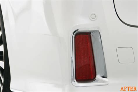 All New Alphard License Ornament Trim Chrome rear reflector garnish exterior trim for toyota vellfire alphard 3rd ebay