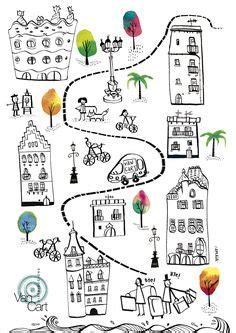 doodle barcelona dibujar ciudades la sagrada familia gaudi