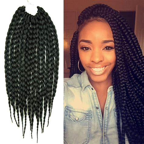 using differentcolored extensions for senegalesetwist 14 inch 12 strands box braids crochet hair extensions