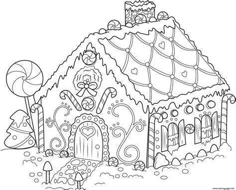 gingerbread house template printable a4 gingerbread house 1 coloring pages printable