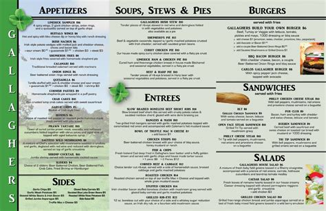 publisher tri fold menu template best and various
