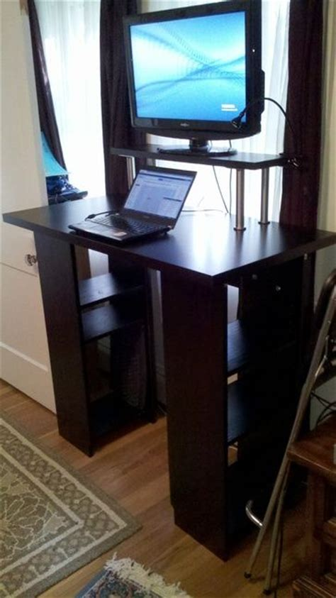 Ikea Hackers Standing Desk Ikea Hackers Billy Standing Desk Furniture Pinterest